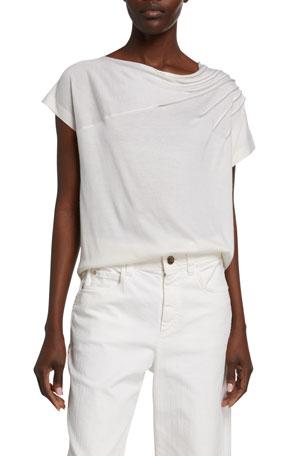 Brunello Cucinelli Cashmere-Silk Off-the-Shoulder Sweater