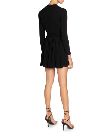 Saint Laurent Jersey Scoop-Neck Dress