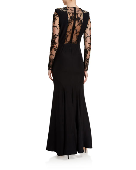 Image 2 of 2: Alexander McQueen Embroidered Lace Gown