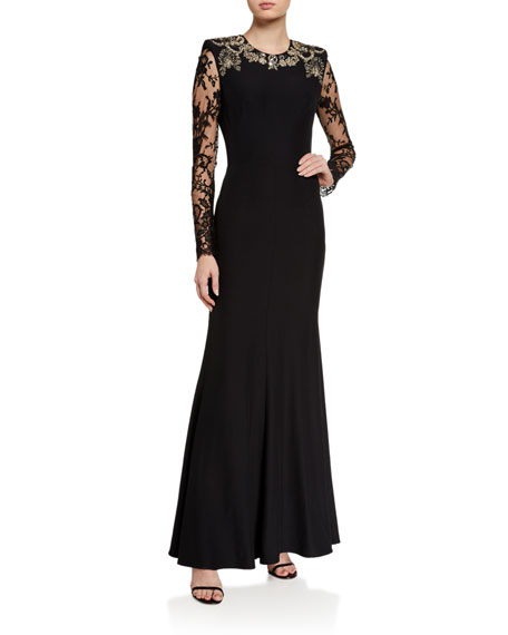 Image 1 of 2: Alexander McQueen Embroidered Lace Gown