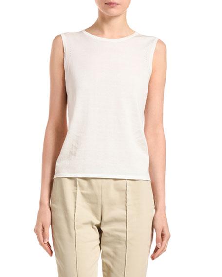 Agnona Cotton-Silk Sleeveless Sweater