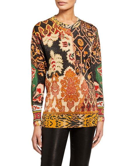 Etro Neo Nomad Animal Print Sweater
