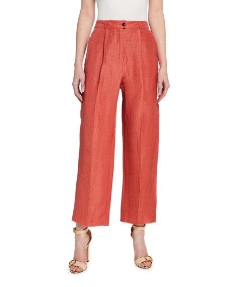 Agnona Pleated Stretch-Cotton Easy Pants