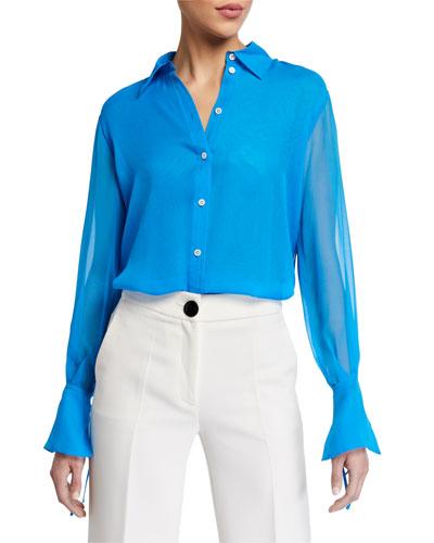 Drop-Shoulder Collared Shirt