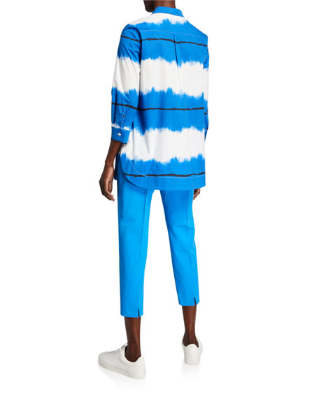Piazza Sempione Ombre Art Striped Tunic Shirt