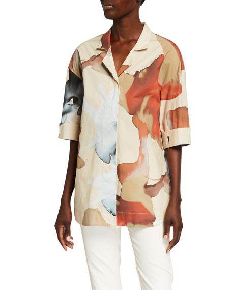 Piazza Sempione Blur-Print Caftan Shirt