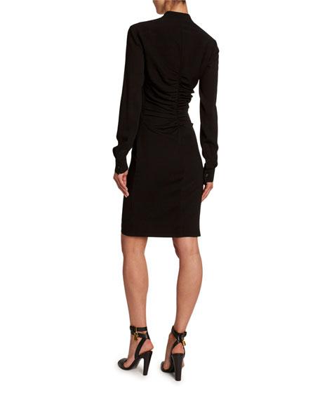 TOM FORD Heavy Crepe Shirred-Center Dress