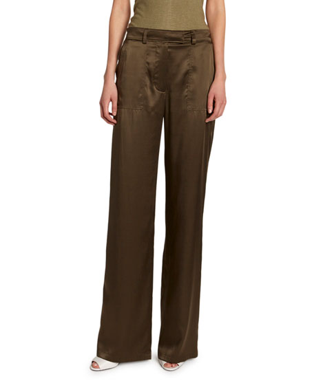 TOM FORD Silk Straight-Leg Pants