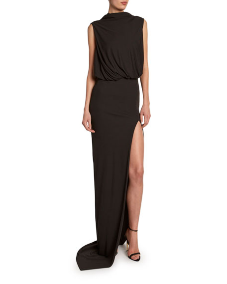 TOM FORD Draped Gown with Open Slim Skirt