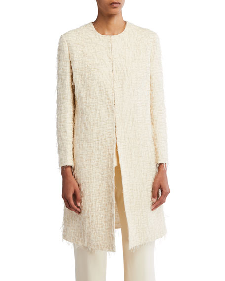 THE ROW Kei Thread-Trimmed Midi Jacket