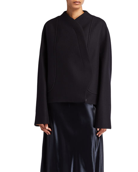 THE ROW Morie Wool-Blend Wrap Jacket