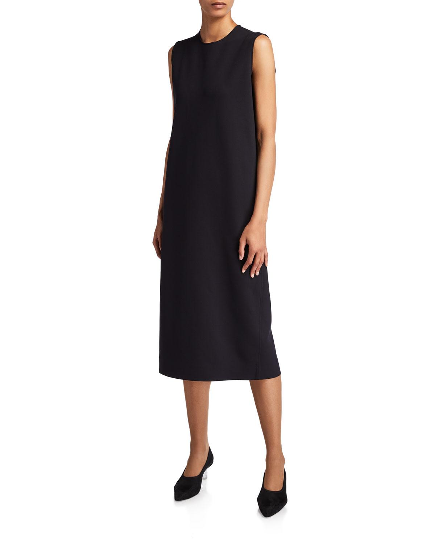 THE ROW Chippo Compact-Jersey Sleeveless Shift Dress