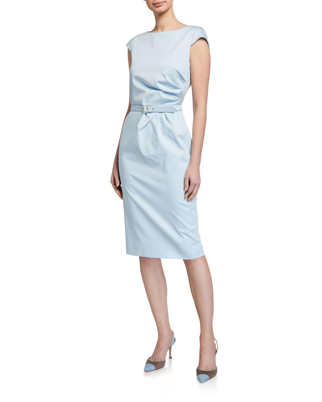 Maxmara Neris Poplin Belted Sheath Dress