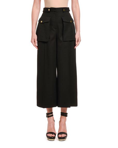 Alexander McQueen Wool Cloth Military Culottes