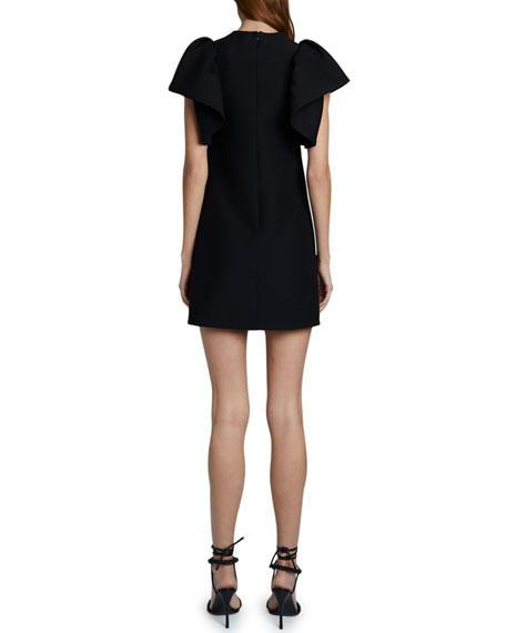 Valentino Ruffle-Sleeve Dress