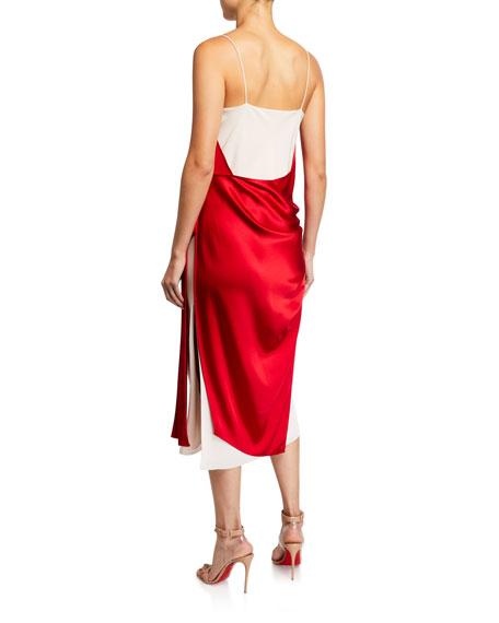 UNTTLD Salome Satin-Draped Dress