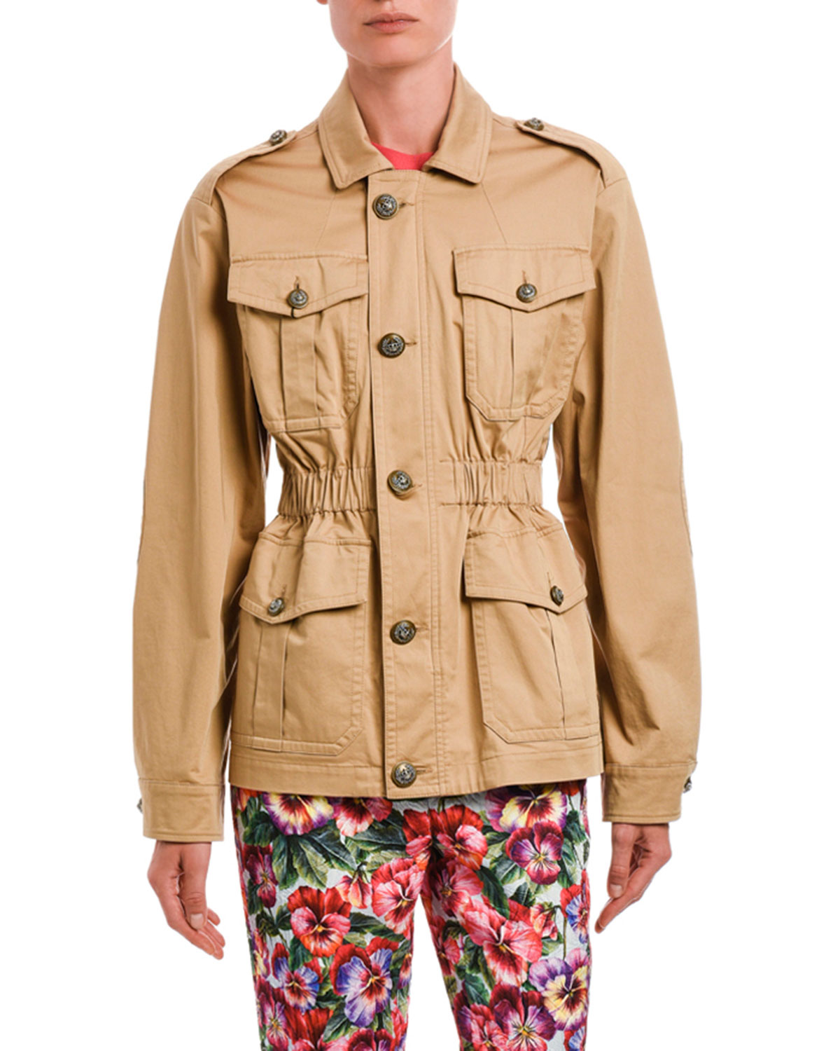 Dolce & Gabbana Stretch Cotton Camp Jacket