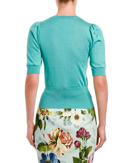 Dolce & Gabbana Silk Square Neck Sweater