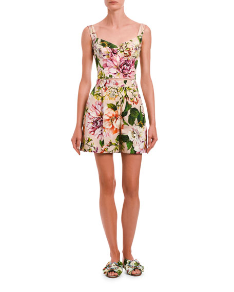 Dolce & Gabbana Floral Silk Bustier