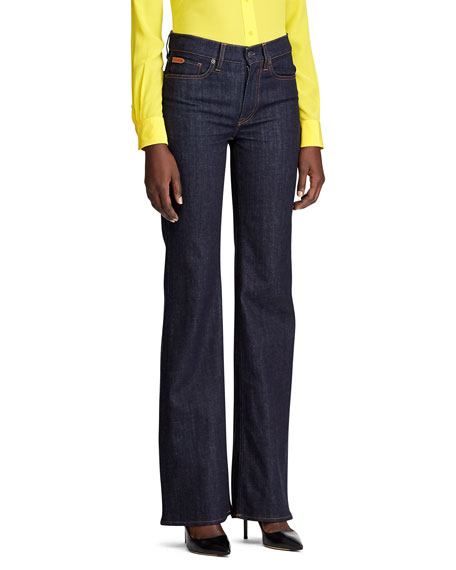 Ralph Lauren Collection Wide Leg Denim Jean