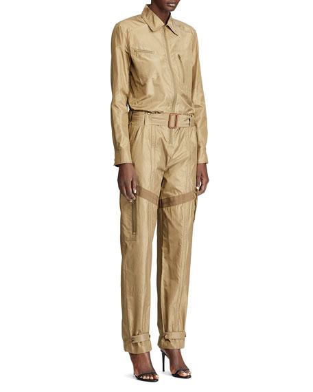 Ralph Lauren Collection Aden Silk Taffeta Jumpsuit