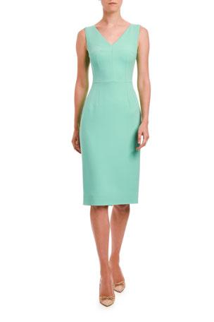 Dolce & Gabbana V-Neck Sleeveless Sheath Dress