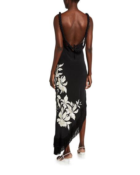 Johanna Ortiz Floral Square-Neck Maxi Dress