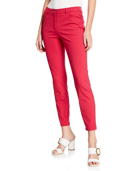 Escada Tygan Five-Pocket Straight-Leg Ankle Pants