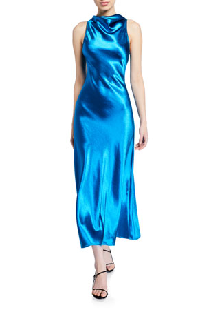 Sies Marjan Cowl-Neck Bias Dress $895.00
