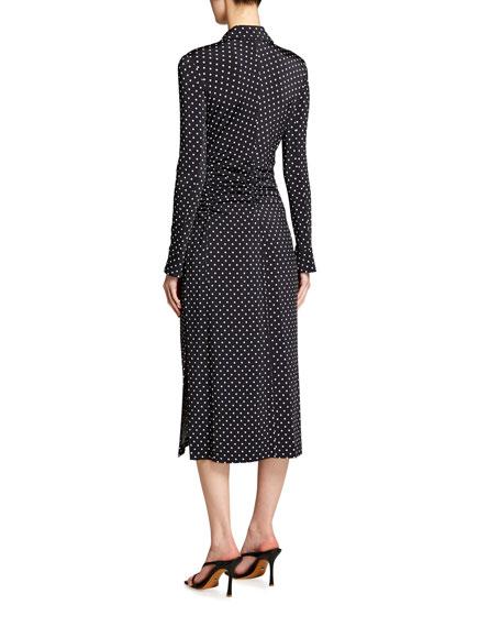 Altuzarra Polka Dotted Button-Front Dress