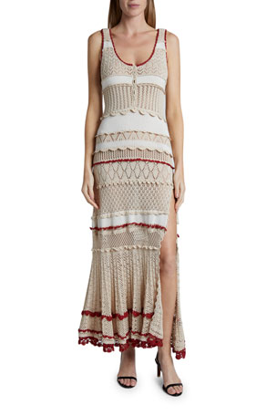 Altuzarra Crochet Striped Dress $1695.00