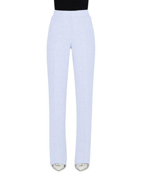 Akris Carl Linen-Wool Straight-Leg Pants