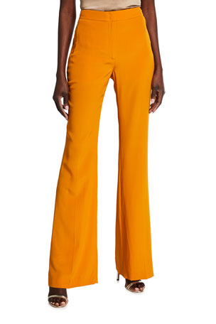 Akris Farida Silk Full-Leg Pants