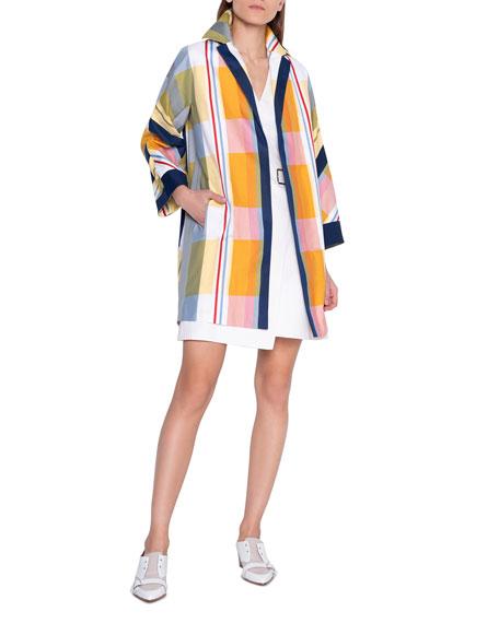 Akris Plaid Duster Coat