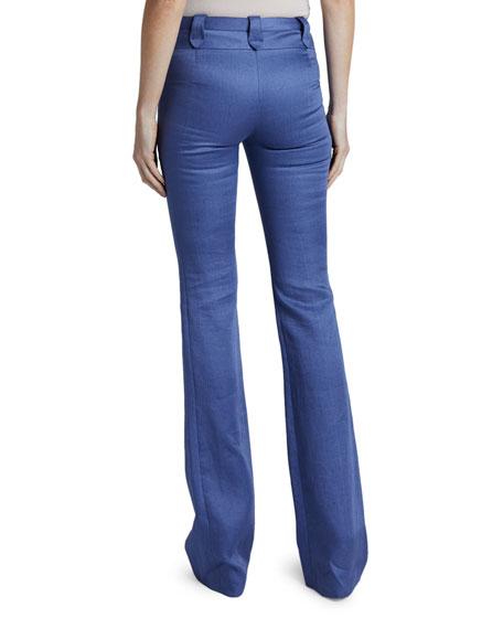 Altuzarra Linen High-Rise Flare Leg Pants