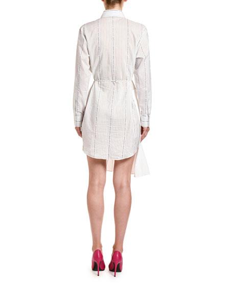Off-White Poplin Wrap Shirtdress
