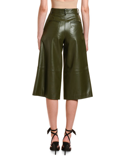Off-White Leather Culotte Pants
