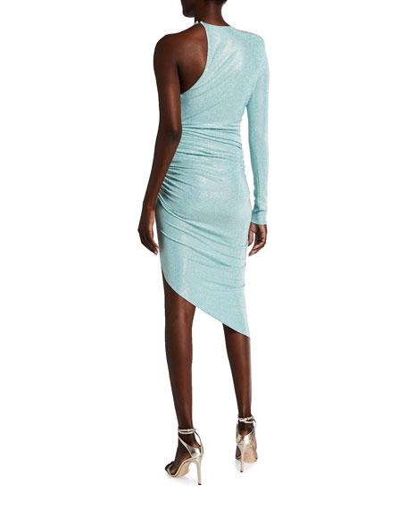 Alexandre Vauthier Crepe One-Shoulder Dress