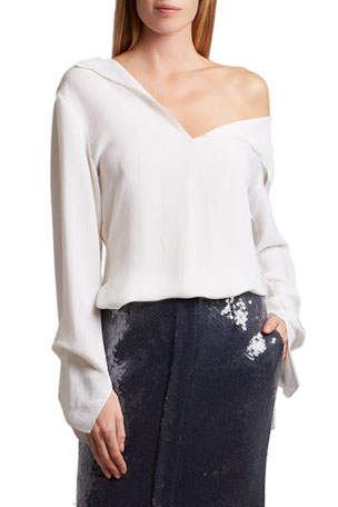 Roland Mouret Whinfell One-Shoulder Top