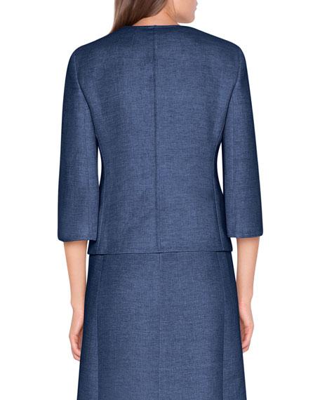 Akris 3/4-Sleeve Cropped Jacket