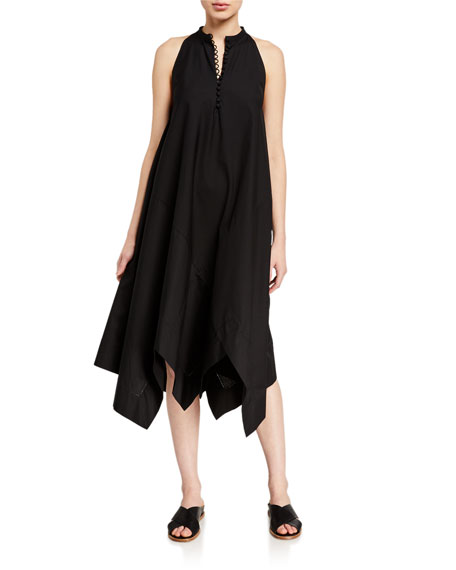 Rosetta Getty Sleeveless Bias Midi Scarf Dress