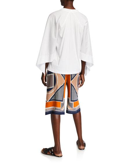 Rosetta Getty Scarf-Sleeve T-Shirt