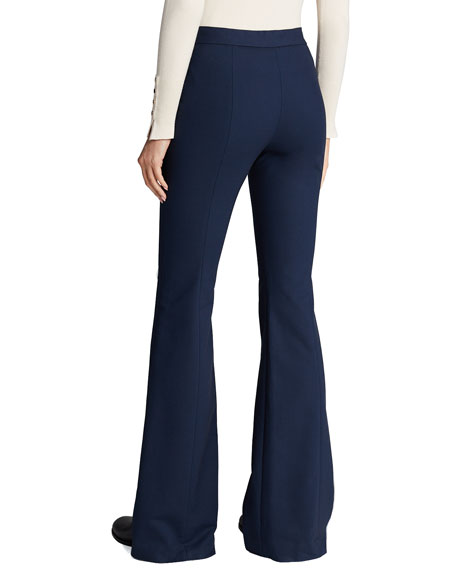 Rosetta Getty Pintucked Flare Pants