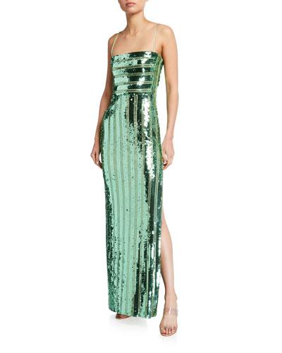 Stargaze Sequined Bandeau Gown