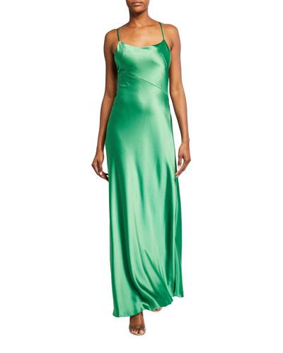 Serena Satin Column Gown