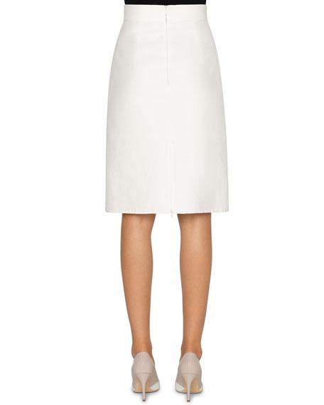 Akris Cotton-Silk Mock Wrap Belted Skirt
