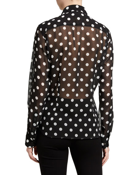 Dries Van Noten Chow Polka-Dot Top