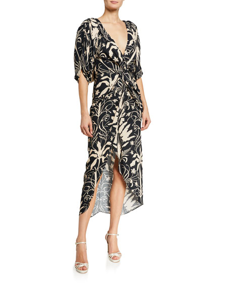 Johanna Ortiz Modern Visionary Floral Print Wrap Dress