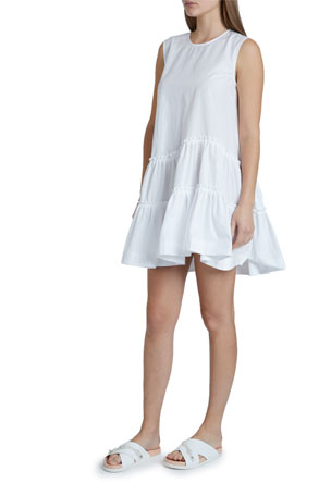 Simone Rocha Tiered Cotton Shift Dress