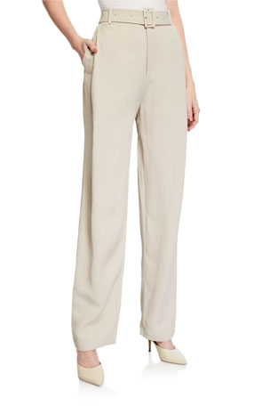 Co Belted High-Rise Trousers